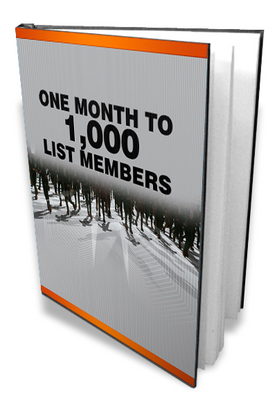 Product picture One Month To A 1000 List Members- Guide To Email Lists
